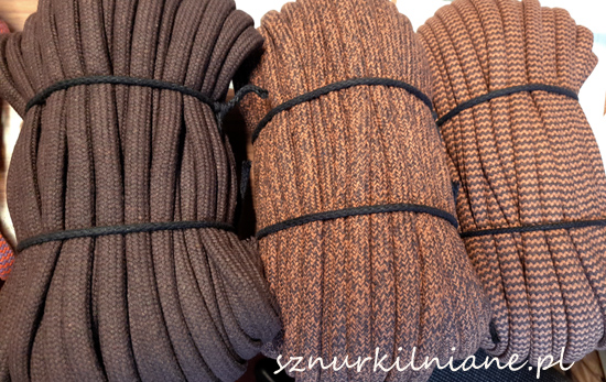 lina bawełniana brąz cotton rope brown