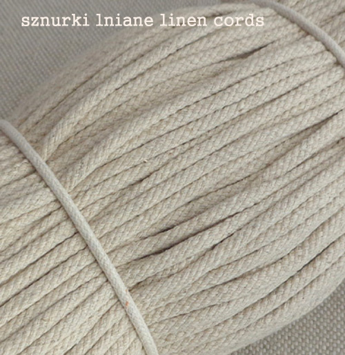 sznur bawełniany 5 mm cotton cord craft 5 mm